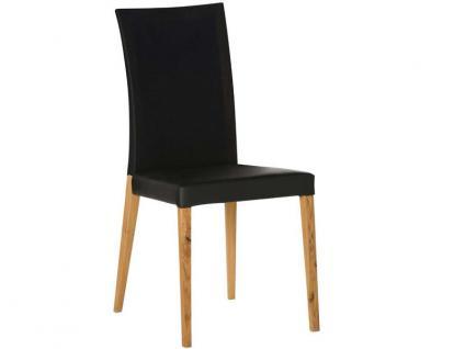 DKK Klose Stuhl S43 mit Mikrotaschenfederkern im Sitz und Komfortschaumpolsterung im Rücken, Stuhl für Wohnzimmer und Esszimmer Bezug in vielen Stoffen und Echtleder wählbar