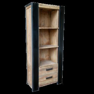 Sit Möbel CROCO Standregal aus Teakholz Rahmen mit Metall im Industrie Stil