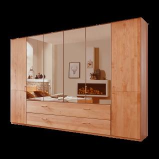 Wiemann Lido Dreh-Gleittüren-Panorama-Funktionsschrank 6-türig mit 4 Spiegeltüren Außentüren Massivholz und 2 Auszügen