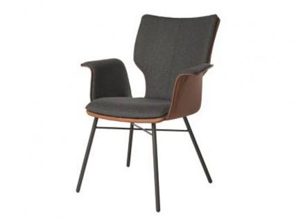 Bert Plantagie Stuhl Joni Four 732C Komfort mit Bi-Color-Mattenpolsterung (zweifarbig) Polsterstuhl für Esszimmer Esszimmerstuhl Gestellausführung und Bezug in Leder oder Stoff wählbar