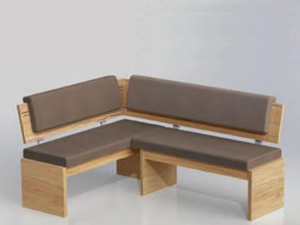 Niehoff Eckbank Mara Sitz und Rücken vollgepolstert Sitzbank für Esszimmer oder Wohnzimmer Dekorausführung Stellvariante und Bezug wählbar