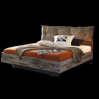 Rauch Select Timberstyle Bett mit Polster-Kissen Farbasführung Sunwood / graphit mit Absetzung Antik Liegefläche wählbar optional mit Nachttisch inklusive 2 Schubkästen
