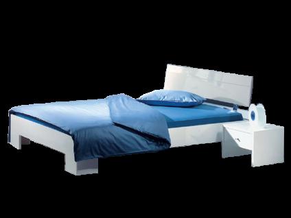 Neue Modular Primolar Genua Bett mit Kopfteil und Füße Genua Liegefläche 180x200 cm optioanl mit Nachttisch