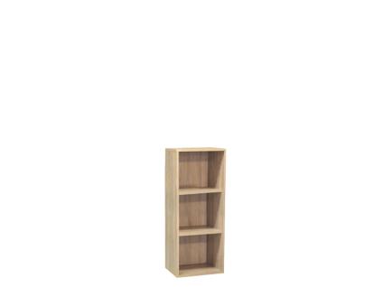 Mäusbacher Mister Office schmales Aktenregal 0201_41x109 für Ihr Arbeitszimmer Regal mit 3 offenen Fächern und wählbarem Dekor