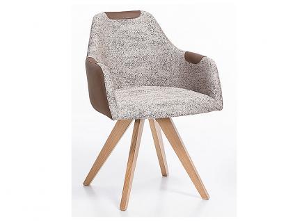 Standard Furniture Polstersessel Rimini mit Sitzschale F1 geschlossen für Esszimmer oder Wohnzimmer, mehrfarbiger Küchenstuhl mit Kunstleder in verschiedenen Bezugsarten und Gestellausführungen - Vorschau 1