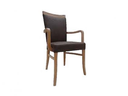 Dkk Klose Sessel S31 Polsterstuhl mit Armlehnen für Speisezimmer oder Wohnzimmer in zwei Polstervarianten Gestell aus Massivholz in verschiedenen Holzausführungen Bezug Leder oder Textil in großer Auswahl erhältlich