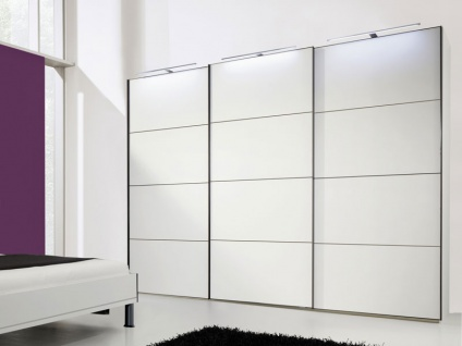 Nolte Marcato Schwebetürenschrank Kleiderschrank Ausführung 5 Korpus, Glasfrontvarianten wählbar