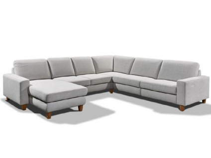 Candy Ecksofa Coast Plus Sofa in U-Form 1, 5-Sitzer 1, 5-Sitzer ohne Armlehnen Spitz-Ecke klein 2-Sitzer ohne Armlehnen Longchair Polstermöbel für Wohnzimmer in Stoff oder Leder Ausführung wählbar Couch spiegelverkehrt lieferbar