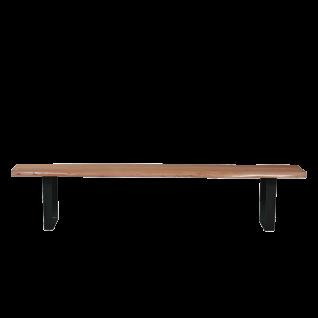 Sit Möbel Sitzbank ca. 150 cm breit aus Holz mit Baumkante Gestell schwarz