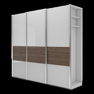 Nolte Möbel Marcato 2.4 Schwebetürenschrank Ausführung 4A mit 4 waagerechten Sprossen 20er-Außenregal und Bauchbinde in Dekor Schrankgröße sowie Farbausführung frei konfigurierbar