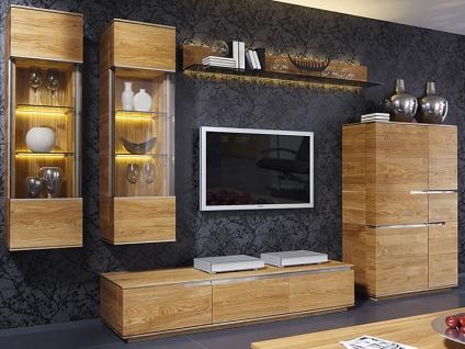 Wimmer acerro Wohnwand AC-76750 Massivholz mit 2 Vitrinen 1 Highboard 1 Lowboard 1 Wandboard für Ihr Wohnzimmer