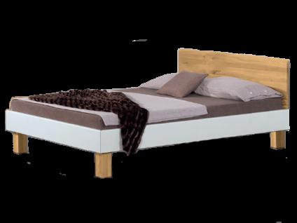Neue Modular Primolar Livorno plus Bett bestehend aus Bettrahmen mit Kopfteil Morro und Eckfüßen Natura Liegefläche ca. 180x200 cm