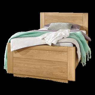 Wiemann Lido Bett mit geschlossenem Fußteil und Holzkopfteil Liegefläche wählbar optional mit Bettschubkasten
