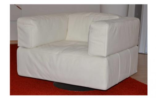 K+W Polstermöbel Loft 7490 Drehsessel für Wohnzimmer Sessel Bezug wählbar