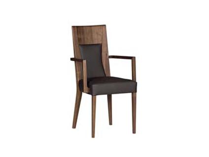 DKK Klose Sessel S15 mit Armlehnen für Esszimmer oder Wohnzimmer Holzvariante wählbar Sitz und Rücken gepolstert in modernen Stoffbezügen
