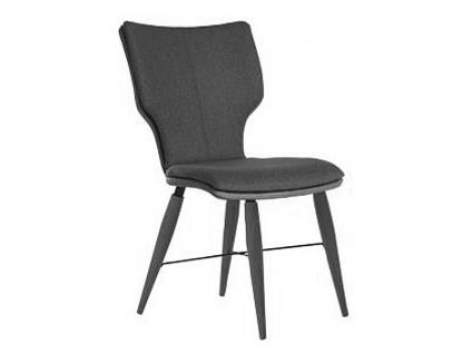 Bert Plantagie Stuhl Joni Cross Komfort 716C mit Uni-Mattenpolsterung Polsterstuhl für Esszimmer Speisezimmerstuhl ohne Armlehnen Gestellausführung Naht Reißverschlußfarbe und Bezug wählbar