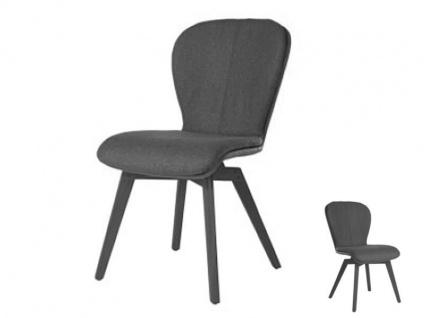 Blake WOOD 615C Komfort mit Uni-Mattenpolsterung von Bert Plantagie Stuhl ohne Armlehnen Komfortausführung für Esszimmer Esszimmerstuhl Gestellausführung und Bezug wählbar