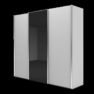 Nolte Möbel Marcato 2.1 Schwebetürenschrank Ausführung 1 ohne Sprossen mit Front A in Glas oder Grauspiegel Front B Dekor Farbausführung Schrankgröße