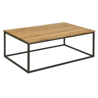 Vierhaus Couchtisch 0268-WEI Wildeiche Massivholz mit Metallgestell für Ihren Wohn- und Essbereich