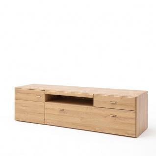 MCA Furniture Florenz Lowboard T31 für Ihr Wohnzimmer TV-Unterteil mit einer Tür zwei Schubkästen und einem offenen Fach Medienelement in Grandson Oak Nachbildung