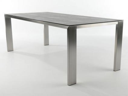 Bert Plantagie Edge Esstisch mit rechteckiger Keramik-Tischplatte Vierfußtisch für Esszimmer Tischplattenausführung Gestellausführung und Größe wählbar