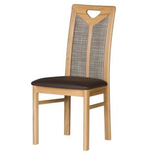 Dkk Klose Kollektion Polsterstuhl Take 5 zweifarbig oder uni mit geteilter Rückenoptik für Speisezimmer in zwei Sitzpolstervarianten Massivholzgestell in vielen Beiztönen Bezug Rücken und Sitz in Leder oder Textil wählbar