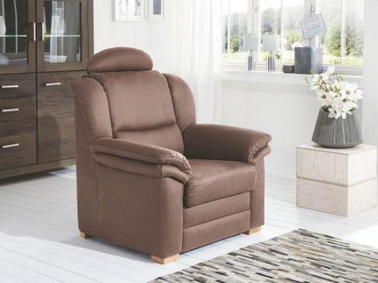 Polipol Sessel Kentucky im Bezug Holiday mandel PG 12 Rücken echt Buche Holzfuß natur