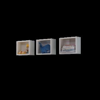 Mäusbacher Adele Hängeregale 0478_30-3er für Babyzimmer oder Kinderzimmer Hängeregal im 3er-Set im Dekor Weiß matt Lack