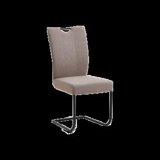 Niehoff Schwingstuhl Dillan mit Griff und wählbaren Bezügen und einem Gestell aus schwarzem Eisen fur Ihren Wohn- und Essbereich **SCHNELL LIEFERBAR**