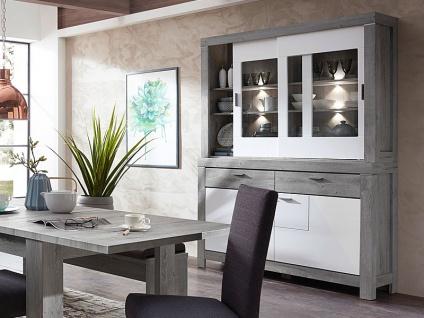 Wohn-Concept Granada Kombination 84 für Ihr Esszimmer oder Wohnzimmer bestehend aus einem Sideboard und Buffet-Aufsatz Speise-Kombination inkl. LED-Beleuchtung Ausführung wählbar - Vorschau 4