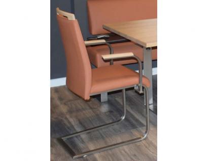 Klose Schwingsessel S59 Freischwinger 2242 Sessel für Wohnzimmer und Esszimmer Gestell Flachrohr in Chrom oder Edelstahl und Bezug in vielen Stoffen und Echtleder wählbar