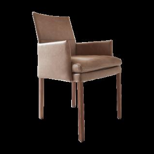 """Wöstmann Sessel SINA 3 """" Slim"""" Stuhl mit Polstersitz und Polsterrücken zweifarbig mit Vierfußgestell Bezug und Gestell wählbar"""