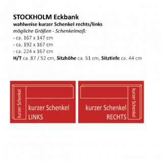 Standard Furniture Sitzbank Stockholm mit Truhe und Stauraum Gestell bzw. Holzart und Bezugsfarbe wählbar - Vorschau 2