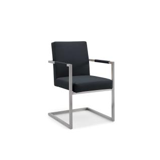 Niehoff Garden Ned Gartenstuhl G161 Schwinger in Edelstahl gebürstet Sitz und Rückenlehne gepolstert Bezug wählbar Stuhl mit Armlehnen für Ihren Garten