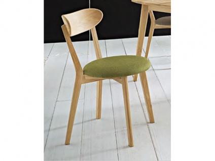 Niehoff Madison Stuhl 2141 2er-Set im Bezug 355 Tiago grün Polsterstuhl für Esszimmer mit Gestell und Rückenlehne aus Massivholz Ausführung wählbar