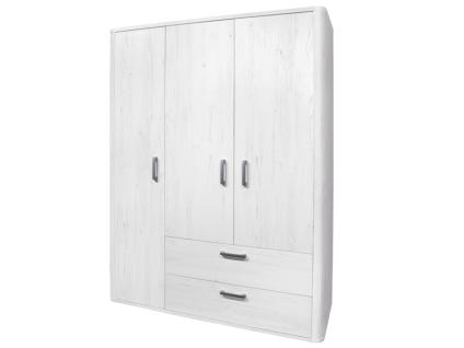 Mäusbacher Lara Kleiderschrank 0472_32 mit 3 Türen und 2 Schubkästen für Ihr Kinderzimmer oder Babyzimmer Schrank im Dekor Anderson pine