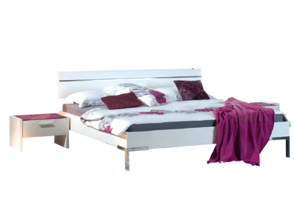 Neue Modular Primolar Genua Bett mit Kopfteil Faro und Füße Prato Liegefläche 180x200 cm optional mit Nachttischen