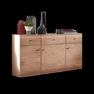 Stralsunder Breege Sideboard C15061 mit drei Türen und drei Schubkästen für Ihr Wohnzimmer oder Esszimmer Dekor Alteiche Nachbildung