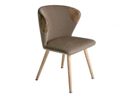 Voglauer V-Alpin Stuhl SEGP22 Relaunch Polsterstuhl mit Absetzung an der Rückelehne für Wohnzimmer oder Esszimmer Bezug in Stoff oder Leder wählbar