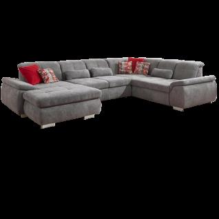 Megapol Wohnlandschaft MP-IN16037 Push mit origineller Steppung und komfortabler Sitztiefenverstellung