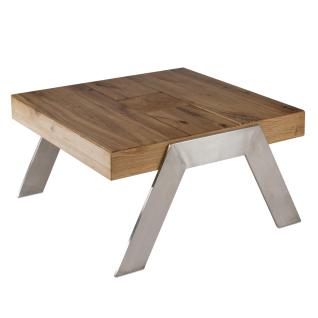 Vierhaus Couchtisch 0235-WEI Wildeiche Massivholz Antik mit Gebrauchsspuren, mit Intarsienverlegung für Ihren Wohn- und Essbereich