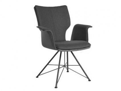 Bert Plantagie Stuhl Joni Spin 733C Komfort mit Uni-Mattenpolsterung und Armlehnen Polsterstuhl für Esszimmer Gestellausführung und Bezug in Leder oder Stoff wählbar