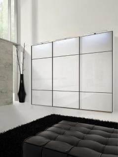 Nolte Marcato Schwebetürenschrank Kleiderschrank Ausführung 3 Weißglas oder wählbar Korpus und Glasfronten wählbar