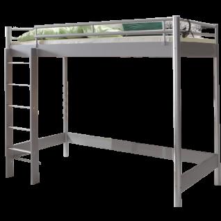 Hasena Space Concept Maxi 400 Hochbett Mit Holzleiter Liegeflache Ca 90x200 Cm Eisenfarbig Alu Optional Matratze Und Lattenrost