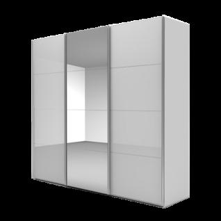 Nolte Möbel Marcato 2.5 Schwebetürenschrank Ausführung 5 mit 5 waagerechten Sprossen Front mit Spiegel mittig Farbausführung und Schrankgröße wählbar