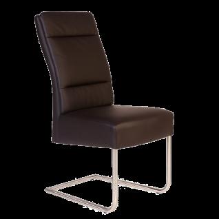 Standard Furniture Stuhl Nura Schwingstuhl mit Premium-Sitz und Edelstahl-Rundrohr-Gestell für Wohnzimmer oder Esszimmer Bezüge wählbar