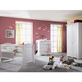 Schlafkontor Cinderella Premium Babyzimmer Kinderzimmer bestehend aus einem 2-türigen Kleiderschrank Bett und Wickelkommode weitere Beimöbel und Zubehör gegen Aufpreis wählbar