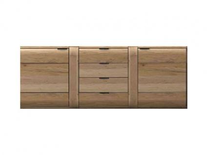 IDEAL-Möbel Sideboard Arras Type 20 Kommode mit Schubkästen und Türen Anrichte für Wohnzimmer Diele oder Esszimmer Front in Alteiche Lamelle Massivholz geölt Korpus aussen Alteiche furniert