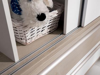 Paidi Carlo Babyzimmer 4-teilig Kinderbett Airwell-Comfort Lattenrost Kommode 4 Schubkästen Wickelaufsatz Schiebetürenschrank 2 Türen 2 Schubkästen - Vorschau 4