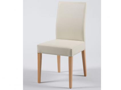 Standard furniture Stuhl Cora mit kantenumlaufenden Ziernähten Polsterstuhl für Esszimmer und Wohnzimmer Gestellausführung und Bezug wählbar - Vorschau 3